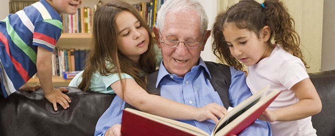 story time with grandpa